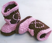 Baby snow booties infant shoes crochet cow design cotton 0- 1...