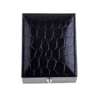 Wholesale Black Cufflinks Box High Quality Leather Gift cuff button Boxes Fashion Jewelry Boxes