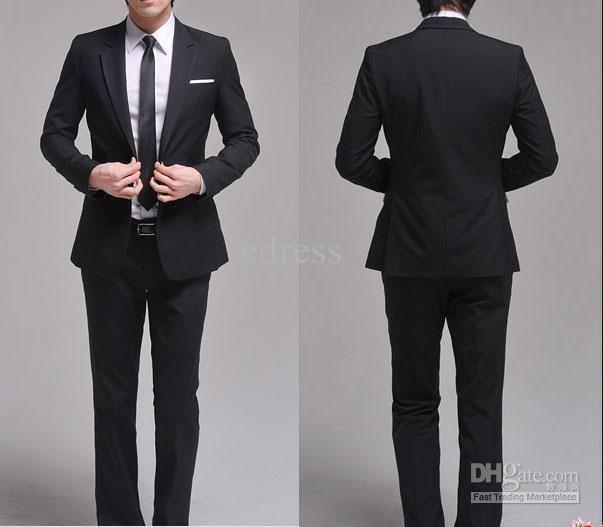 2017 New Formal Men's Business Suit Men's Premium Slim Fit Dress ...