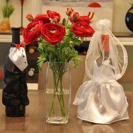 Wholesale Wedding Wine Bags wedding wine bottle wraps Favor Holders Wedding Gift Wedding Favors pairs