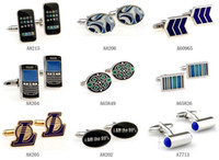 Wholesale Hot Sale Men s Cufflnks Sleeve Button Cuff Buttons Fashion Jewelry With gift box Mix Order