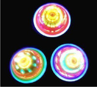Wholesale Friction top flashing top LED top light toys rotating gyroscope can be friction