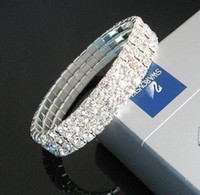 Alloy best wedding presents - hot wedding bracelets fashion three rows crystal bracele lady girl best presents