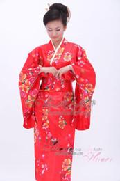 Wholesale New Junoesque silk flower Yukata Japanese Haori Kimono perform dress SDHFKA