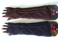 Wholesale Freeshipping Mixed Three colors Winter Girls Lovely Multi colors Wool Solid Warm Arm Long