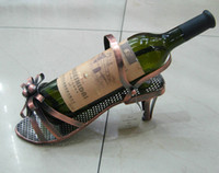 Wholesale Freeship Piece MAGIC POLISHED CHROME High heel Shoe Wine bottle HOLDER Christmas Gift A5