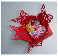 Wholesale 240pcs Wedding supplies Christmas Gift Box Red Color Paper Candy Box Gift paper bags Sweet Box