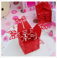 Wholesale 2 inch Red Paper Box Candy Boxes Sweet Boxboard Candy Holder Wedding Gift Box p