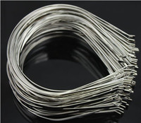 Wholesale Plain Sliver Metal Headbands Hair Band mm