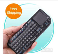 Wholesale GHz Wireless Rii Mini PC Keyboard with Touchpad For PC Laptop Android WIN7 ems