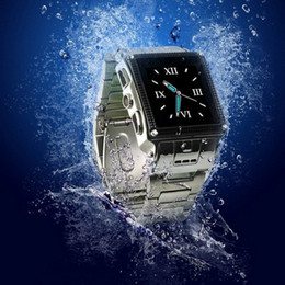 Wholesale Promotion Stainless Steel Waterproof Watch Phone W818 Quadband Bluetooth Camera Touch Screen CellPhone