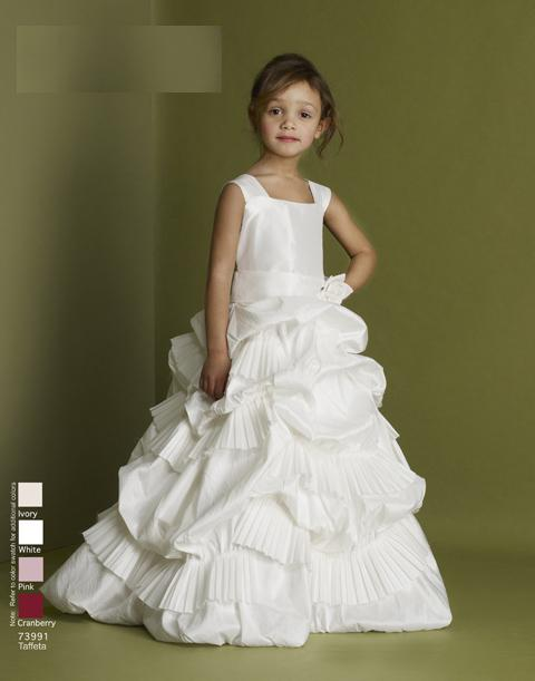 2012 High Neck Princess Taffeta Flower Girl Dresses Baby Wedding ...