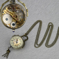 ball mechanical watch - New Retro Crystal Ball Necklace Pendant Watch Bronze Color