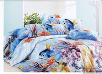 Wholesale blue finding Nemo pattern cotton full queen cotton bedding comforter quilt duvet covers sets pc
