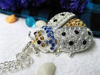 Wholesale Newest Diamond Usb Stick Jewelry Beetle USB Flash Drive GB Free Ship
