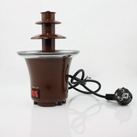 Wholesale ECO Friendly Gift Mini Stainless Steel Tier Chocolate Fountain Fondue toy2011
