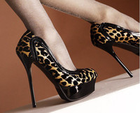 Wholesale HOT Style SEXY Women s Leopard Platform High Heel Shoes