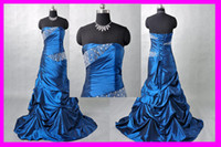 Wholesale 2012 New Arrival Real Samples Fashion Prom Dress Taffeta Strapless Party Dresses