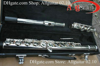 Wholesale Silver Plate Fulte211 with case Closed Hole Professional Flute