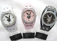 Fashion playboy watches - Freeshipping watch Cute PlayBoy Fashion Womans Quartz Watches Battery gifts