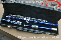 Wholesale Blue Flute holes c key close hole offset keys top quality