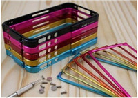 For Apple iPhone aluminum blade bumper - Blade Bumper Case Aluminum Bumper Frame Blade Case Cover Use For iPhone G