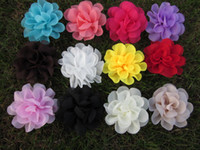 Wholesale hot selling quot chiffon silk flowers rosette flowers mix colors
