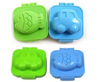 Wholesale sushi molds beautiful fish and car shape Sushi Rice Mold Mould Cutter Bento plastic cake egg molds