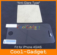 Wholesale antiglare matte screen protector film for iPhone S with retail package MSP370A