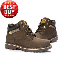 Wholesale Work Shoe box Work Boot Genuine Leather dk brwon Size