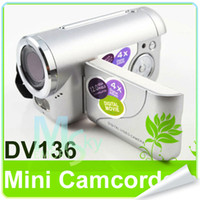 Wholesale Free GB SD card digital DV136 Video Voice Record X Digital zoom TFT Display FLASH LIGHT
