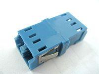 Wholesale Fibre fiber Optic Adapter adaptor LC LC LC LC LC Duplex blue plastic Coupler