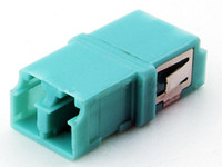 Wholesale Optic Fiber Adapter adaptor LC LC LC C LC Duplex aqua OM3 double lock Coupler