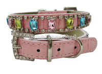 Wholesale Discount Luxurious pet collar diamonte collars pet accessory colors