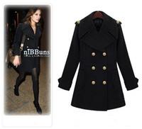 Women Regular Middle_Length Woman winter clothes Euramerican woman coat black wine red double platoon buckle business suit coat
