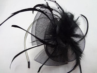alice prom - 12pi Ruffled Net Alice Band Feather Fascinator Prom Wedding Headband Hair Accessories Band