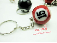 New Year big pool tables - ball Pool Billiards snooker table ball keychain the same material as the real BILLIARDS big number