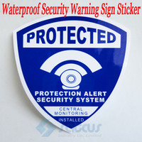 Wholesale 20pcs Security Surveillance DVR Anti theft Burglar Waterproof Blue DECALS Warning Sign Sticker