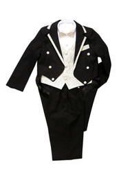 Wholesale Tuxedo Boys Suits New Black Tuxedo Boys Formal Suit for Suit size BT002