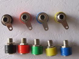30 pcs per Lot Banana Jack Binding Post For 4mm Banana Plug 5 colors Red & Black & Yellow & Green &