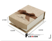 Wholesale Gorgeous Ribbon Jewelry Box Paper Jewelry Packing Gift Present Box Necklace Gift Package