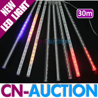 Wholesale 30cm Tubes set LEDs leds tube Shower Meteor Light Christmas Lights Holiday Decoration Lamp CN LML37