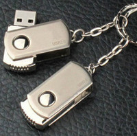Wholesale New Metal Swivel USB Flash Memory Drive full capacity GB GB GB GB