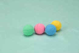 Wholesale Popular Useful Sponge Golf Balls Cat Toys quot Diameter For Cat Playing Teasing Single Colour Colours a Pack w Paper Header