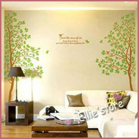 Wholesale Lovers trees decorative wall stickers living room bedroom TV