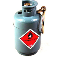 Wholesale Creative lighter gas cylinders with keys hanging lighter buckle