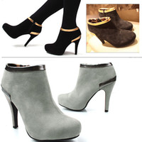 Wholesale Hot Sale Women s Vogue Ladies Platform Pump High Heel Ankle Boots Shoes Sexy