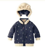 Wholesale Boys coats surcoats reversable overcoats hoodies cotton padded jumpers cloaks greatcoats outfits F46