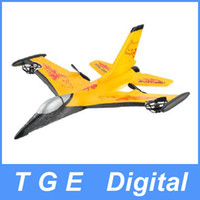 Motorcycles plastic plane - 4CH RC Remote Controlled Fighter Plane F Fighting Falcon Model Durable EPP Material Yellow