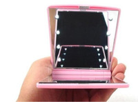 Wholesale New Makeup Compact Cosmetic Mirror LED Light color Birthday Valentine s